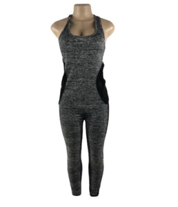 GREY & BLACK YOGA SET