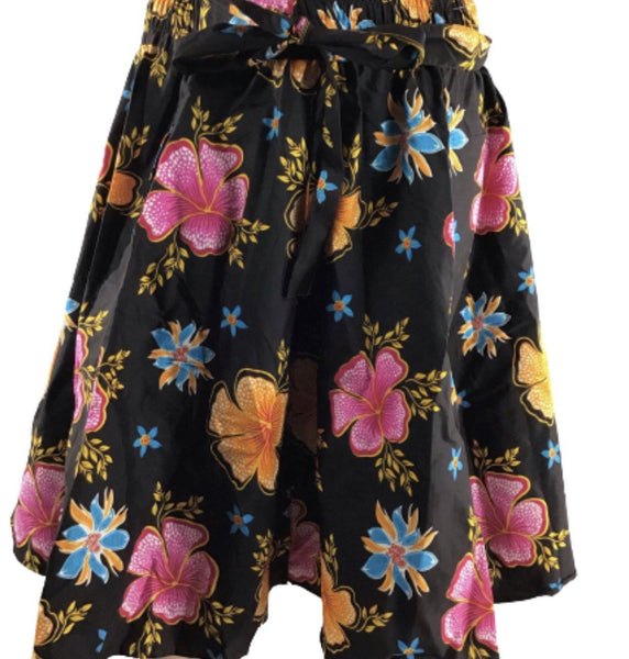 BLACK AND PINK MIDI SKIRT - Belle De'esse Boutique