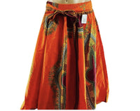 Orange Maxi Skirt - Belle De'esse Boutique