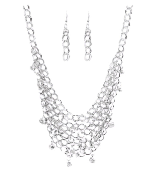 Fishing For Compliments Silver Necklace - Belle De'esse Boutique