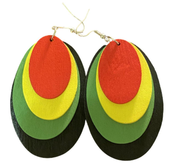Jamacia Thingz Earrings - Belle De'esse Boutique