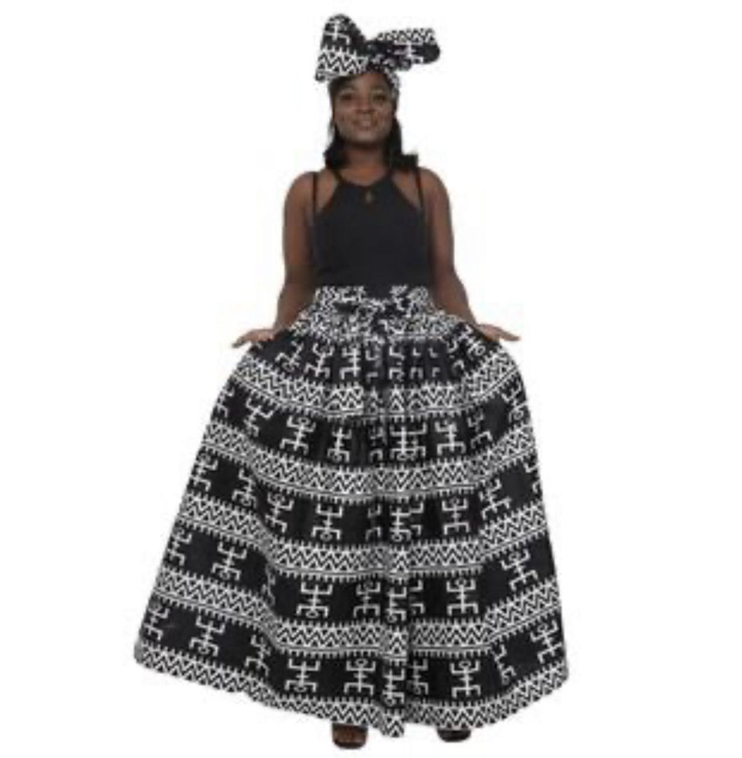 White on Black Aztec - Belle De'esse Boutique