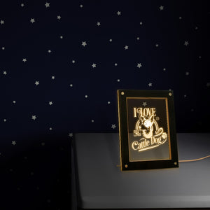 I Love My Cattle Dog  Led Photo Frame Night Light Display Dog Pet Owner Lighting  Custom Doggy  Idea - Woody Signs Co.