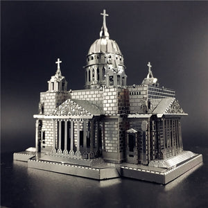 3D Metal model kit Issakiv Cathedral Building  Model DIY 3D - Woody Signs Co.