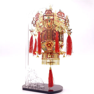 3D metal puzzle modle Palace Lantern  metal Model kit DIY 3D   gift for girl (Palace Lantern) - Woody Signs Co.