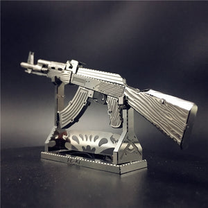 3D Metal Puzzle AK47 Beretta 92 Gun Weapon Building Model Kit DIY 3D Laser Cut  Toy for adult - Woody Signs Co.