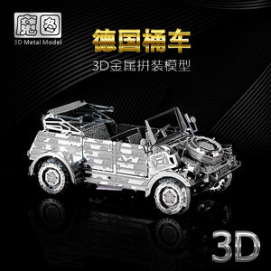 3D Metal model kit W82 Kubelwagen vehicle  Model DIY 3D - Woody Signs Co.