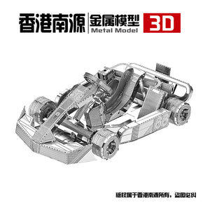 3D Metal model kit Kart Car vehicle  Model DIY 3D - Woody Signs Co.