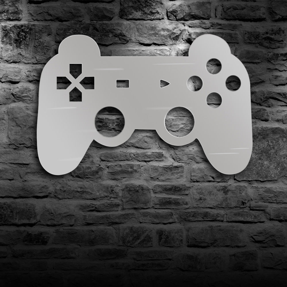 Gamepad Controler Wall Mirror With LED Backlight Joystick