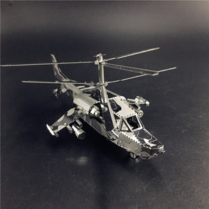 3D Metal model kit KA-50 Aircraft RAH-66 Stealth Helicopter  Model DIY 3D - Woody Signs Co.