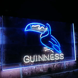 Guinness Toucan Stout Draught  Bar Decor Dual Color Led Neon Light Signs st6-a2120 - Woody Signs Co.