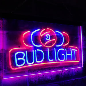 Bud Light Pool Room 9 Ball Snooker Billiard Dual Color Led Neon Light Signs st6-a2056 - Woody Signs Co.