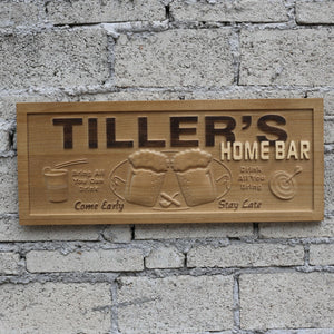 Home Bar Man Cave  3D Wooden Signs - Woody Signs Co.