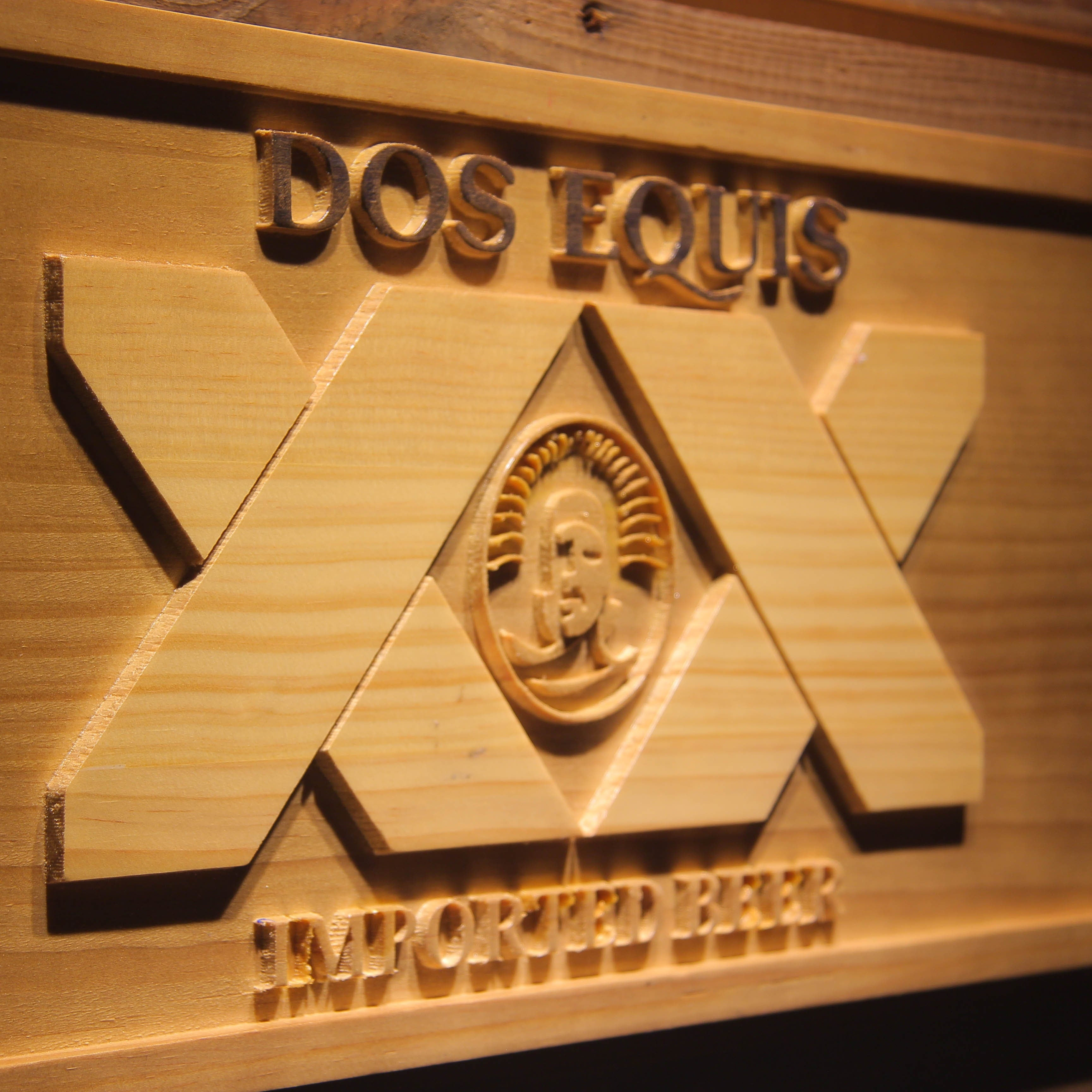 DOS EQUIS  3D Wooden Signs - WoodySigns Co.