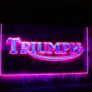 Triumph Car Truck Bar Decoration Gift Dual Color Led Neon Light Signs st6-d0051 - Woody Signs Co.