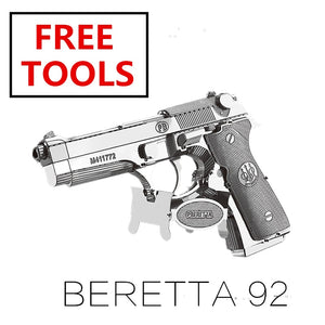 3D Metal puzzle model kit Beretta 92 GunWeapon   Model DIY 3D - Woody Signs Co.