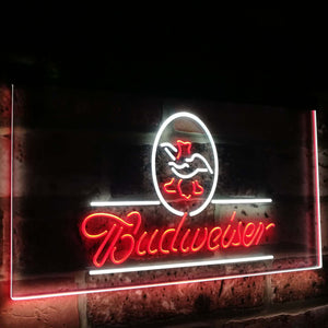 Budweiser Eagle US  Company Bar Decor Dual Color Led Neon Light Signs st6-a2008 - Woody Signs Co.