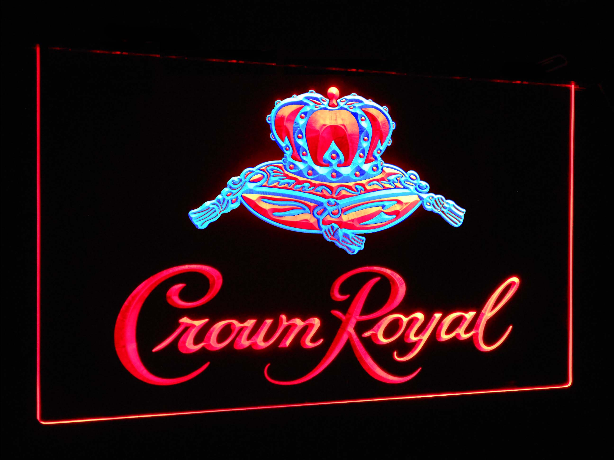 Crown Royal  Bar Decoration Gift Dual Color Led Neon Light Signs st6-a0104 - Woody Signs Co.