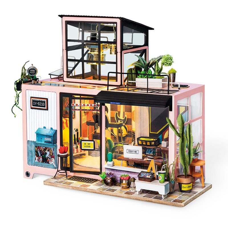 New DIY Kevin's Studio with Furniture   Miniature Wooden Doll House    DG13 (Kevin studio) - Woody Signs Co.