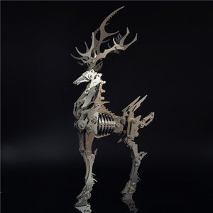 3D Metal Model Chinese Zodiac Dinosaurs David's deer DIY Assembly models Toys Collection Desktop For Adult Children - Woody Signs Co.