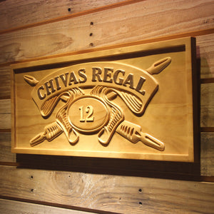 Chivas Regal 12 Whisky 3D Wooden Signs - Woody Signs Co.