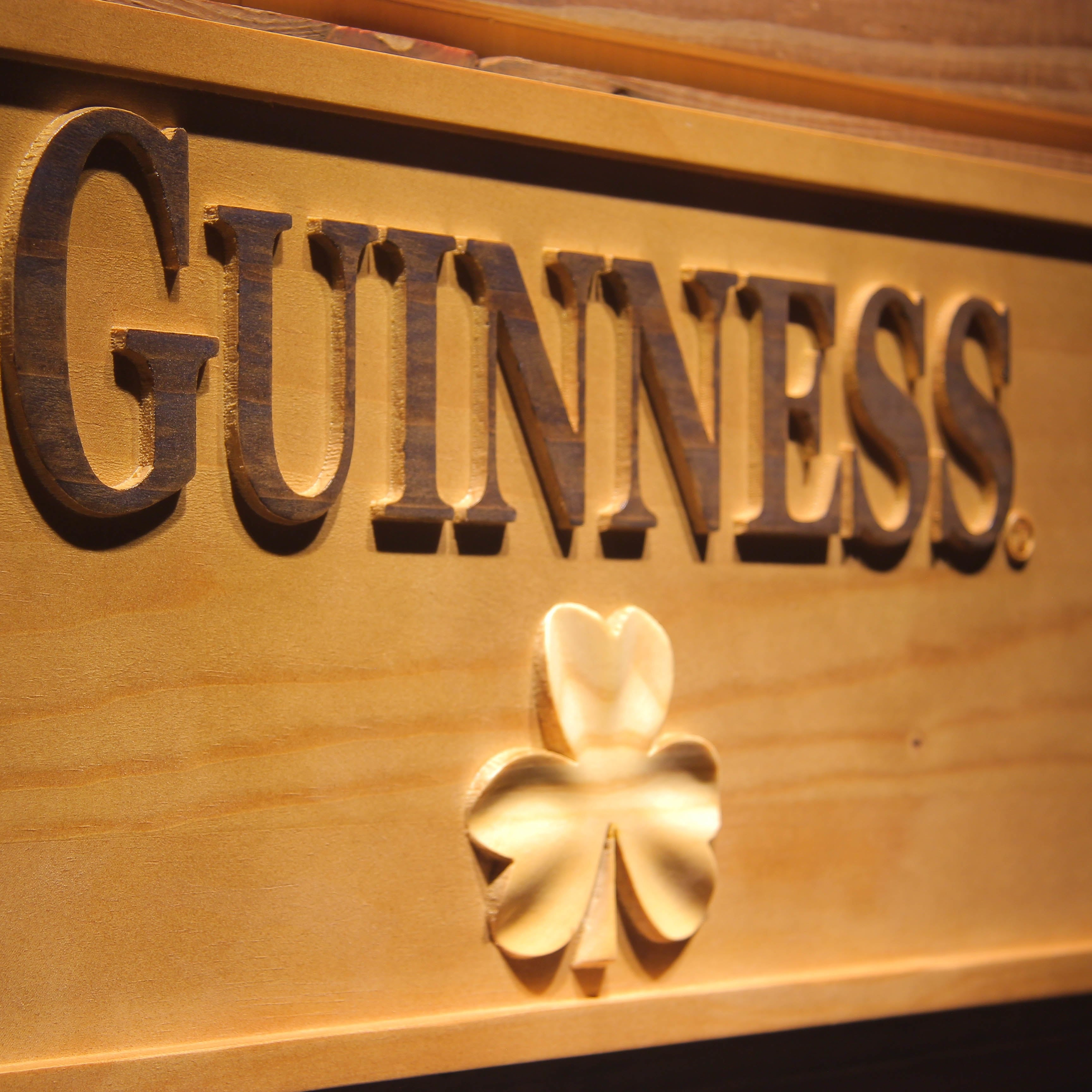 Guinness Shamrock  3D Wooden Signs - Woody Signs Co.
