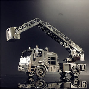 3D Metal Puzzle model kit Fire engine with ladder DIY 3D - Woody Signs Co.