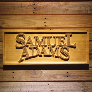 Samuel Adams 3D Wooden Bar Signs - Woody Signs Co.