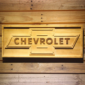 Chevrolet Car 3D Wooden Bar Signs - Woody Signs Co.