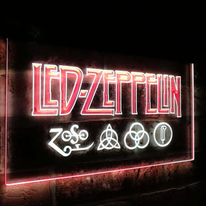 Led Zeppelin Band Music Bar Decoration Gift Dual Color Led Neon Light Signs st6-c0002 - Woody Signs Co.