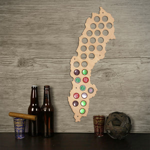 Swedent  Cap Maps Handmade Wooden Craft Decorative Wall Mounted Maps  Bottle Caps Collection Gadget - WoodySigns Co.