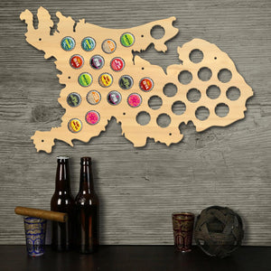Netherlands  Cap Map Map Of Holland  Bottle Cap Display Wood Craft Wall Art Decor Dutch Man Cave  Lover Gift - WoodySigns Co.