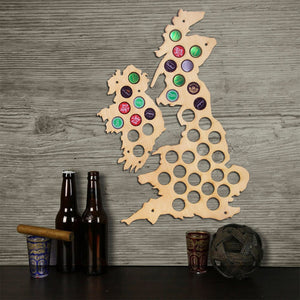 Unique Design Wooden Maps United Kingdom  Cap Maps Handmade Wall Mounted Decorative Map Home Decor - WoodySigns Co.