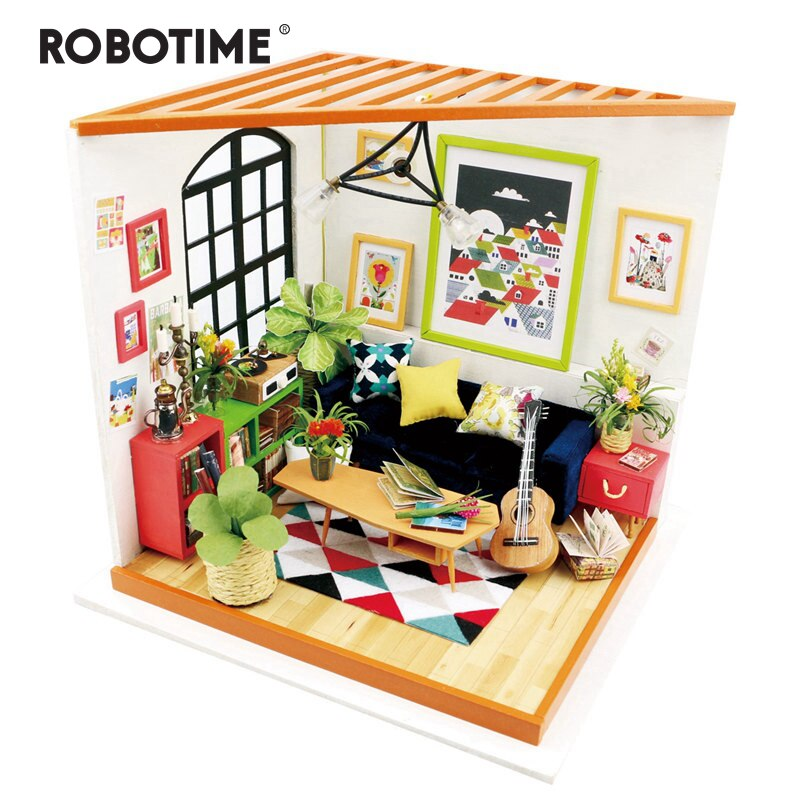 DIY Locus Sitting Room with Furniture   Miniature Wooden Doll House   DG106 - Woody Signs Co.