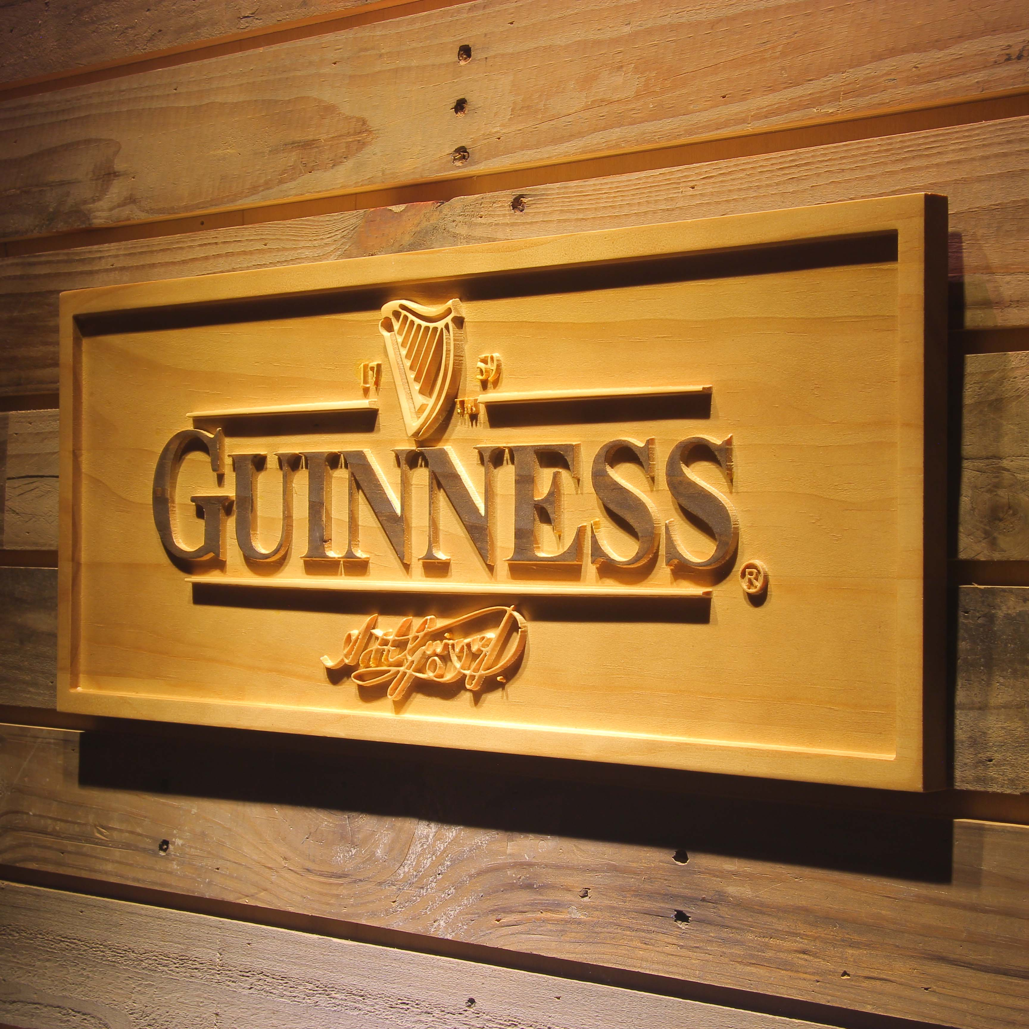 GUINNESS Ale  3D Wooden Signs - WoodySigns Co.