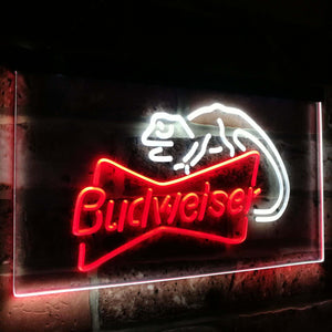 Budweiser Lizard  Bar Decoration Gift Dual Color Led Neon Light Signs st6-a2084 - WoodySigns Co.