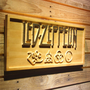 LED Zeppelin  3D Wooden Bar Signs - WoodySigns Co.