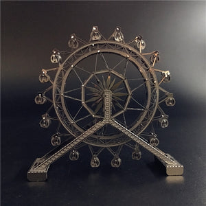 3D metal puzzle Ferris Wheel architecture DIY Assemble Model Kits Laser Cut (Ferris Wheel) - Woody Signs Co.