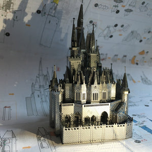 3D Metal model kit Cinderella Castle Building  Model DIY 3D - Woody Signs Co.