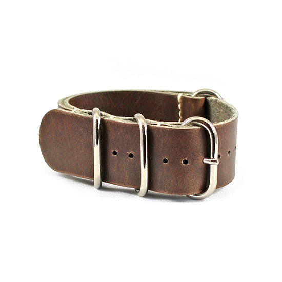 24mm stone brown nato watch strap