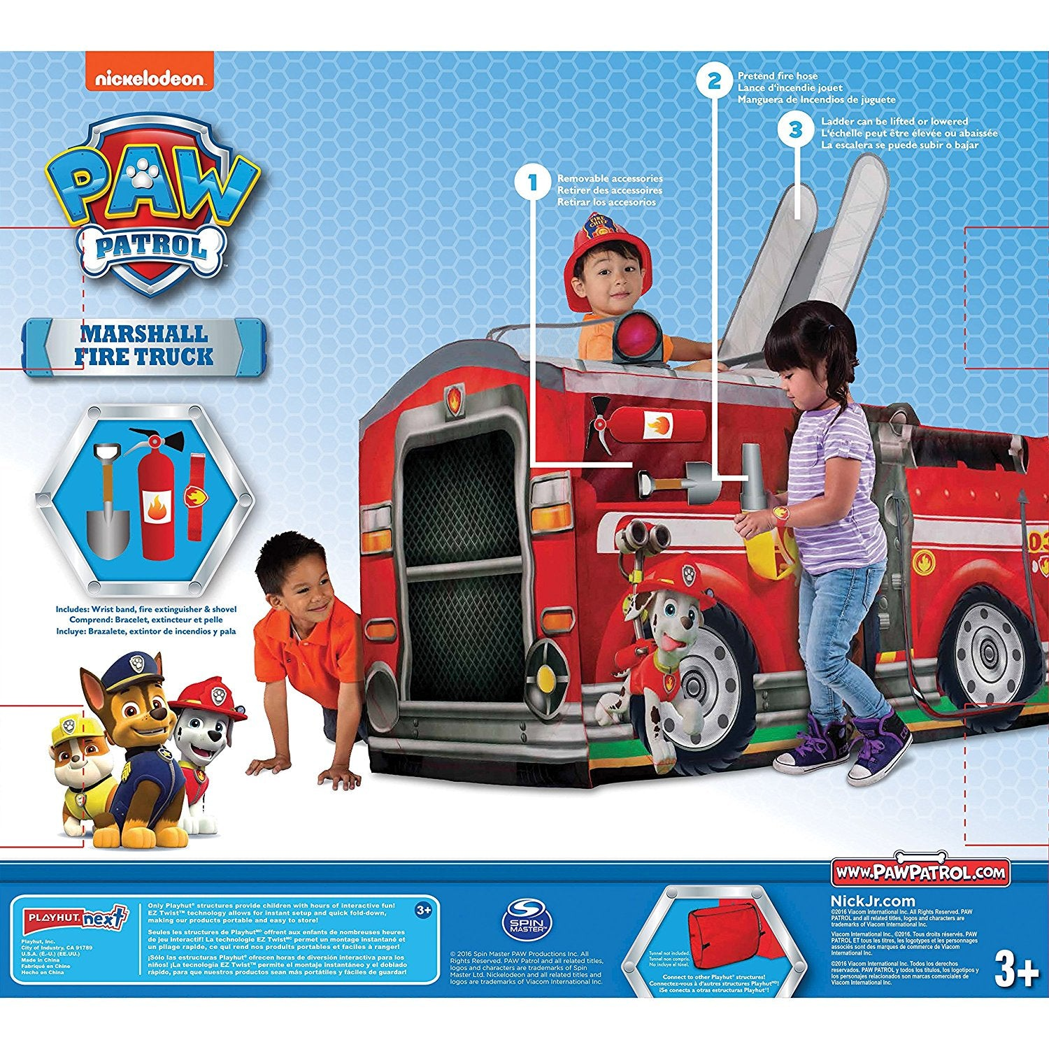 paw patrol marshall fire truck playhouse latest kids