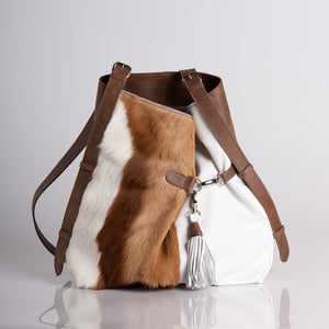 Springbok Ice White Handbag Fienn | African San Taxidermy Studio