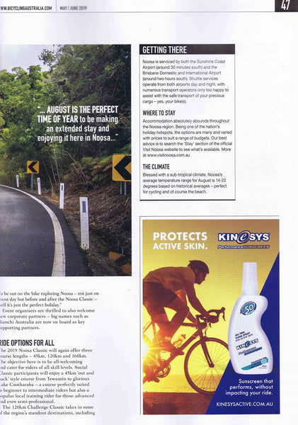 KINeSYS Oil-free sunscreen for cyclists