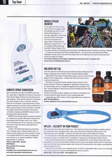 KINeSYS Bicycling Australia Sunscreen for Cyclists