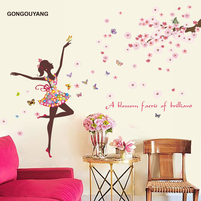Butterfly Fairy Dance Living Room Bedroom Wall Sticker Part 97