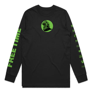 Black Free Time Circle Longsleeve