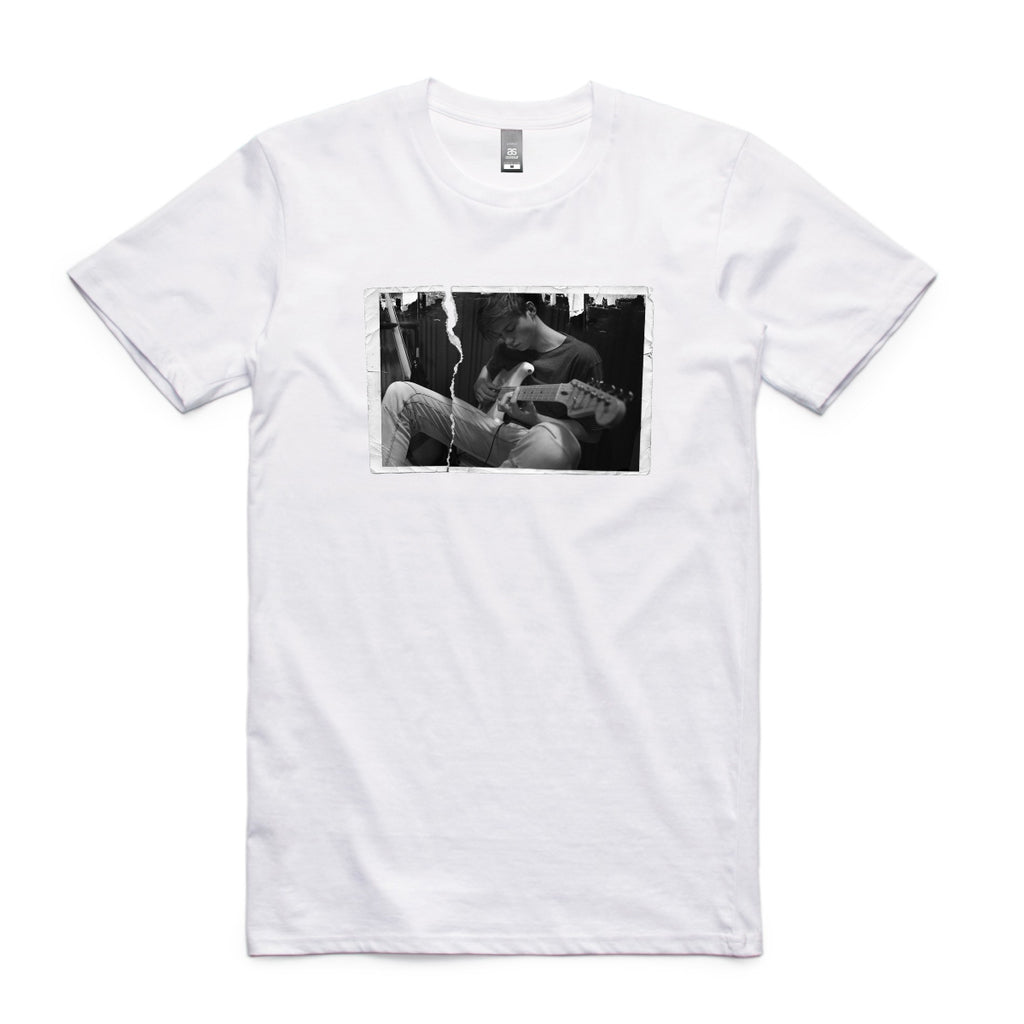 """Ripped Photo"" Unisex Tee - White"