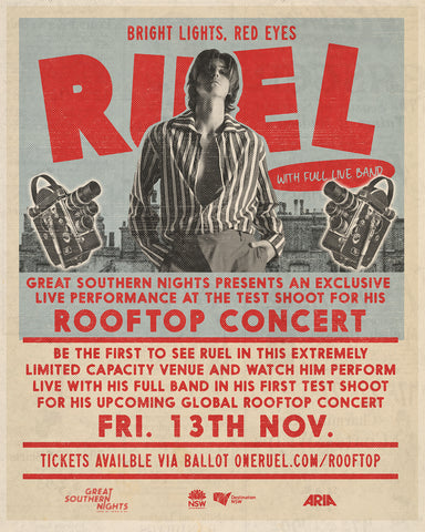 Ruel - Live Test Filming @ MCA Rooftop | Double Pass 7 ** DATE CHANGE