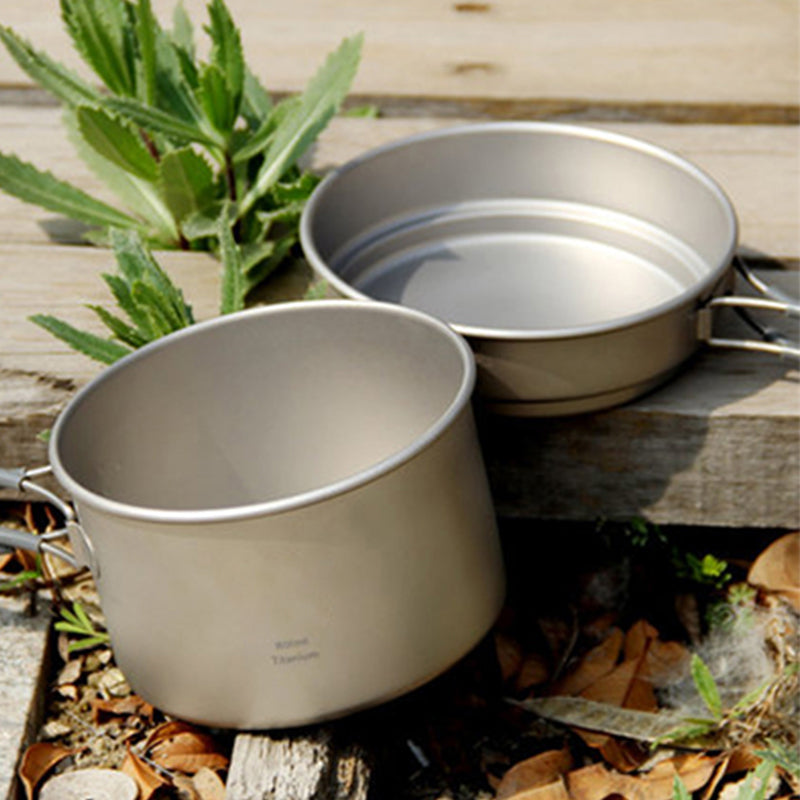 Picnic Titanium Cooking Pots And Pans Set