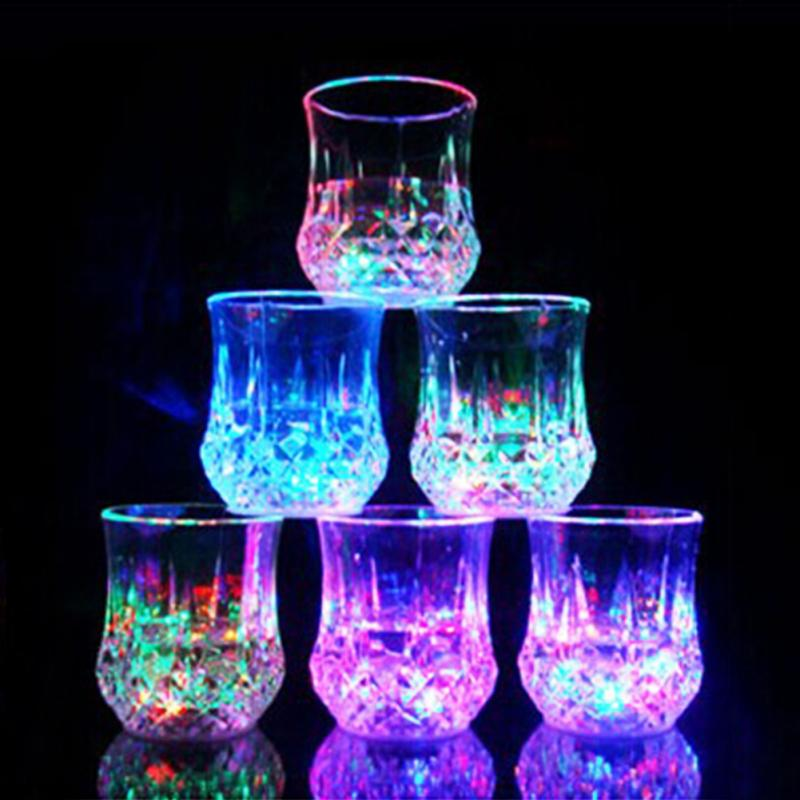 Colorful Highlight LED Flashing Juice Glass